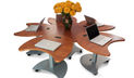 Quark2 Mobile Sit Stand Conference Table System