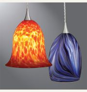 Halo Art Glass LED Pendants