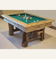 Distressed Log Bumper Pool Table