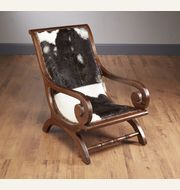 43315-HI Cowhide Upholstered Leisure Chair