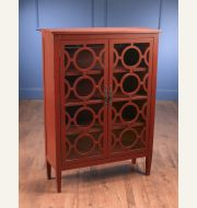 70380-RD Red Cabinet with Glass Doors