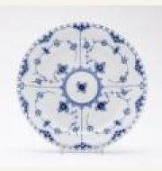Blue Fluted Full Lace Five-Piece Place Setting