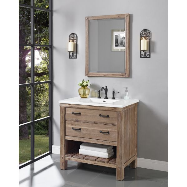 journal archinterious napa 36 open shelf vanity by fairmont designs